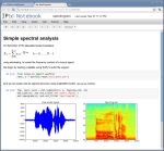 IPython Notebook Spectrogram